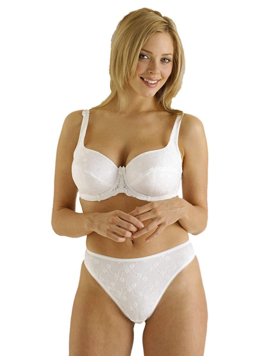 Adore Lingerie UK SIZE 14-16 /'Trellis/' White Thong Panties In Floral Desi...